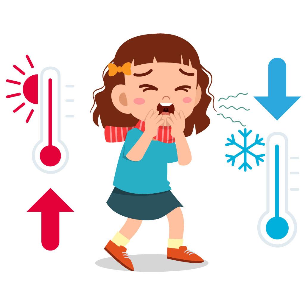 focus on sbalzi di temperatura